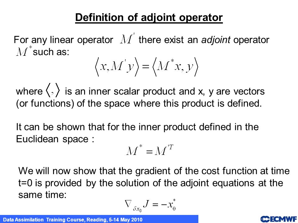 Definition of adjoint operator