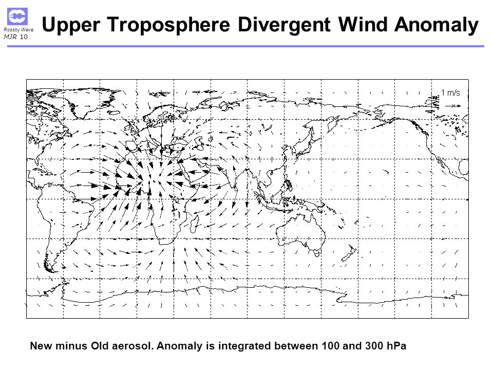Upper Troposphere Divergent Wind Anomaly