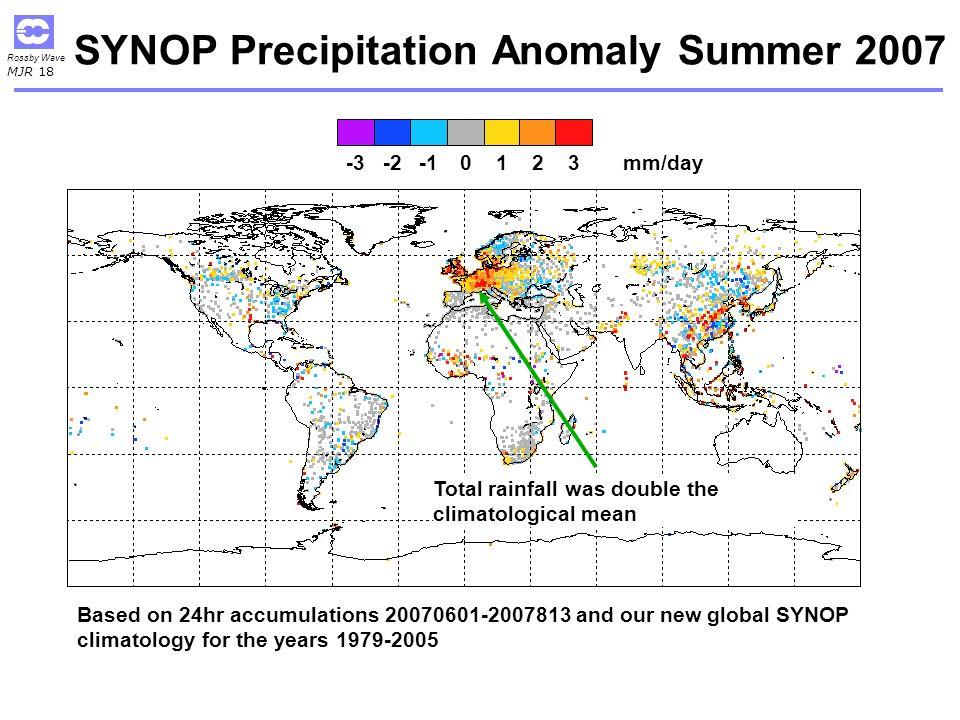 SYNOP Precipitation Anomaly Summer 2007