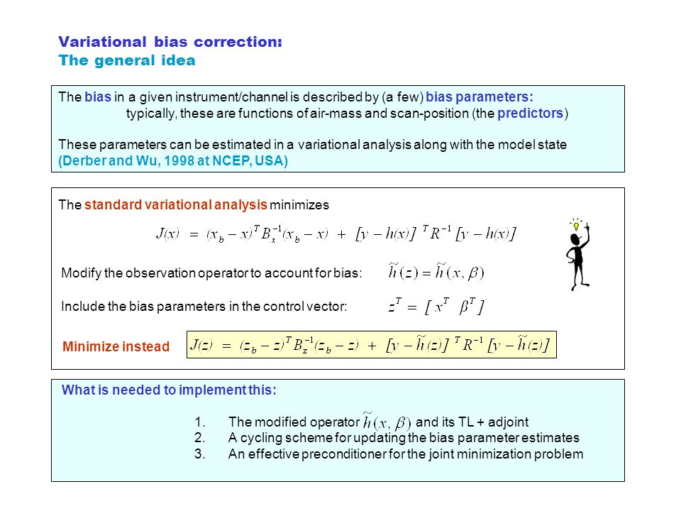 Variational bias correction: The general idea