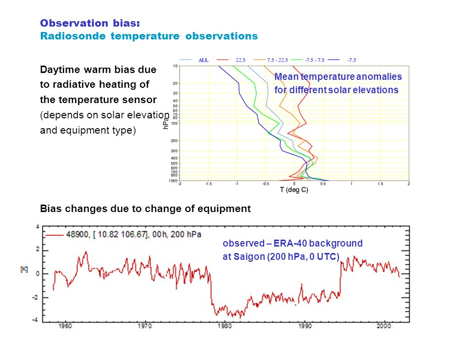 Observation bias: Radiosonde temperature observations