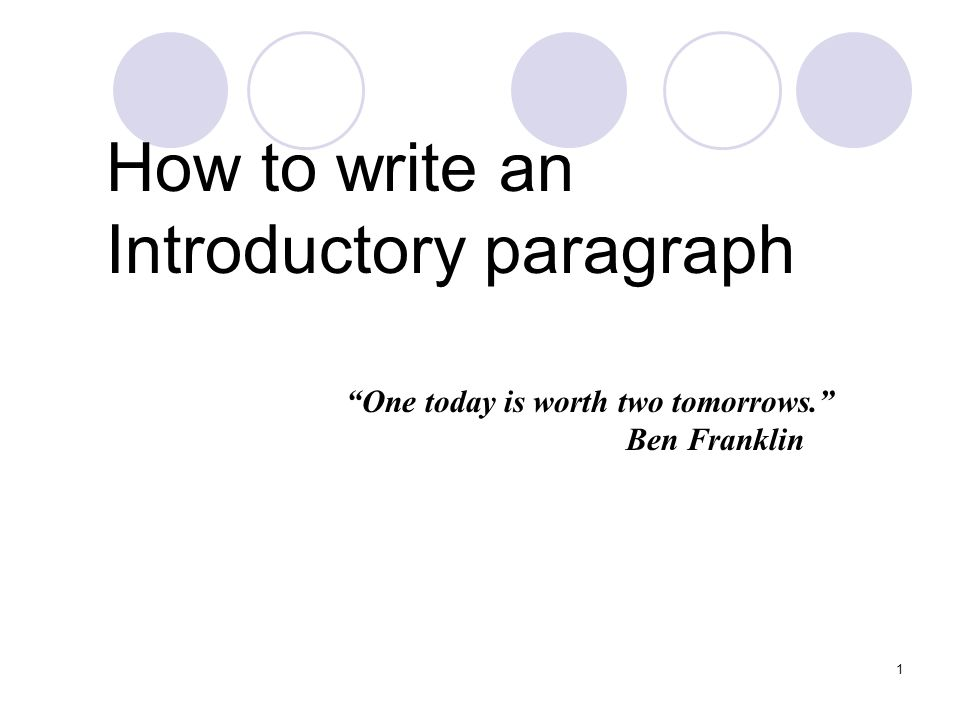 how do you write an introduction paragraph for an essay If you are wondering about how to write a good introductory paragraph for an essay, then this article will be very useful to you the intro paragraph has two main aims.