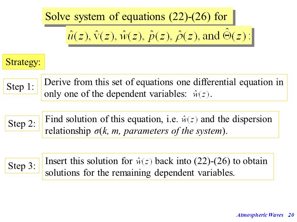 Solve system of equations (22)-(26) for