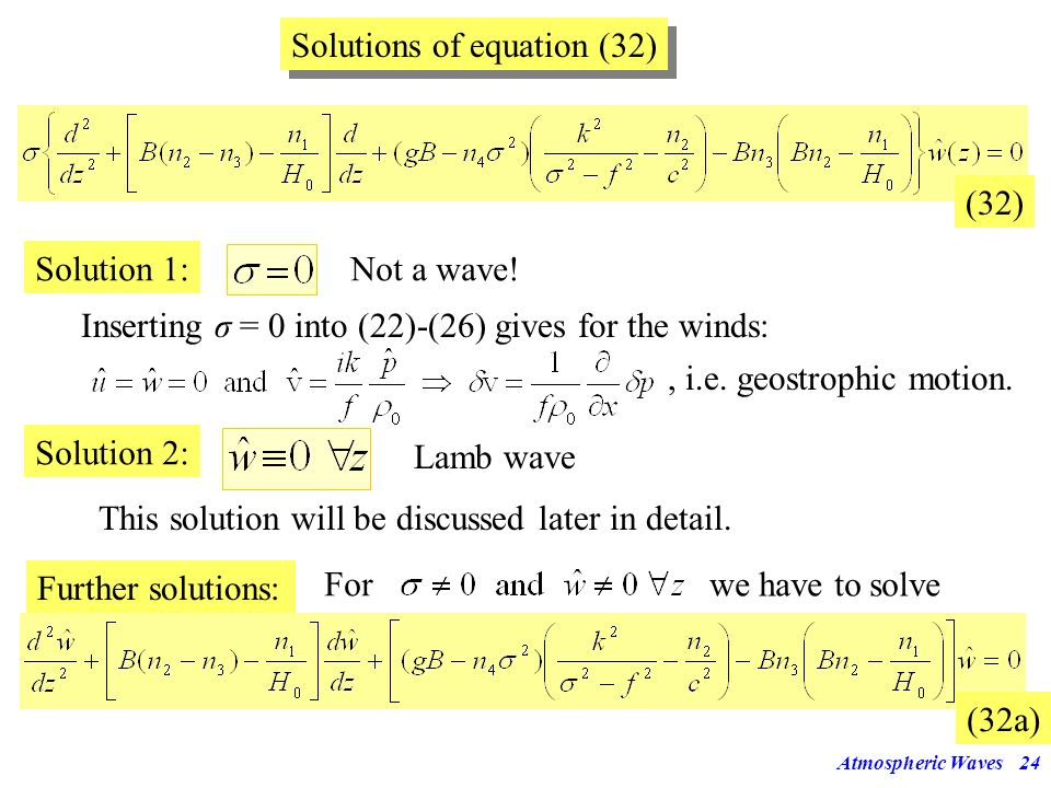 Solutions of equation (32)
