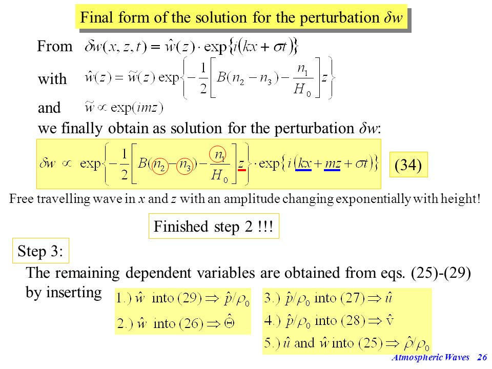 Final form of the solution for the perturbation δw