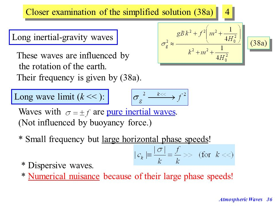 Closer examination of the simplified solution (38a) 4