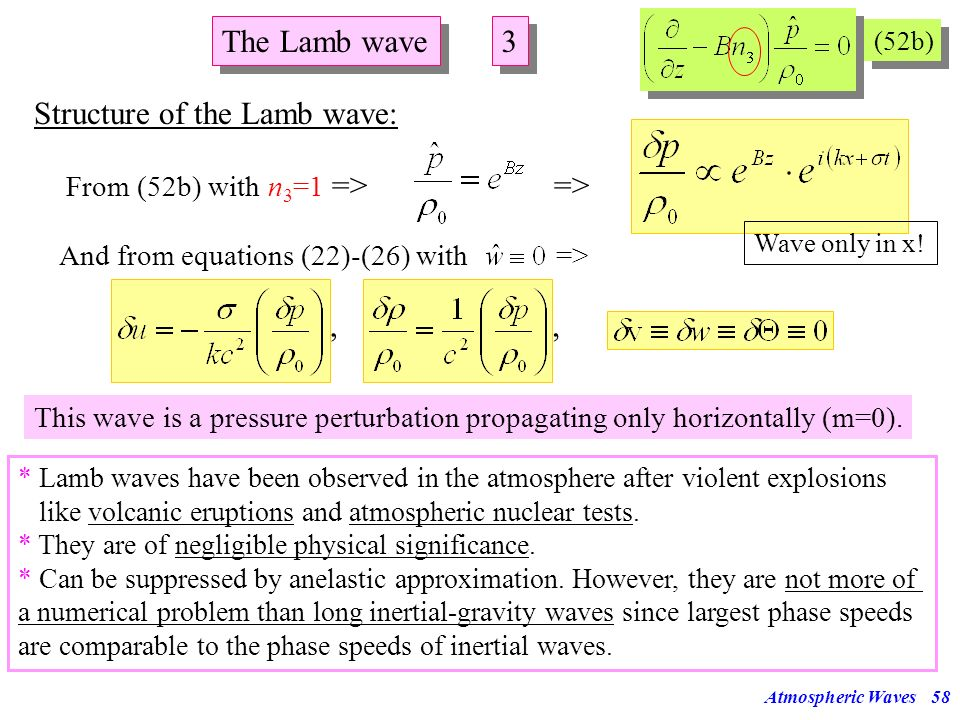 Structure of the Lamb wave: