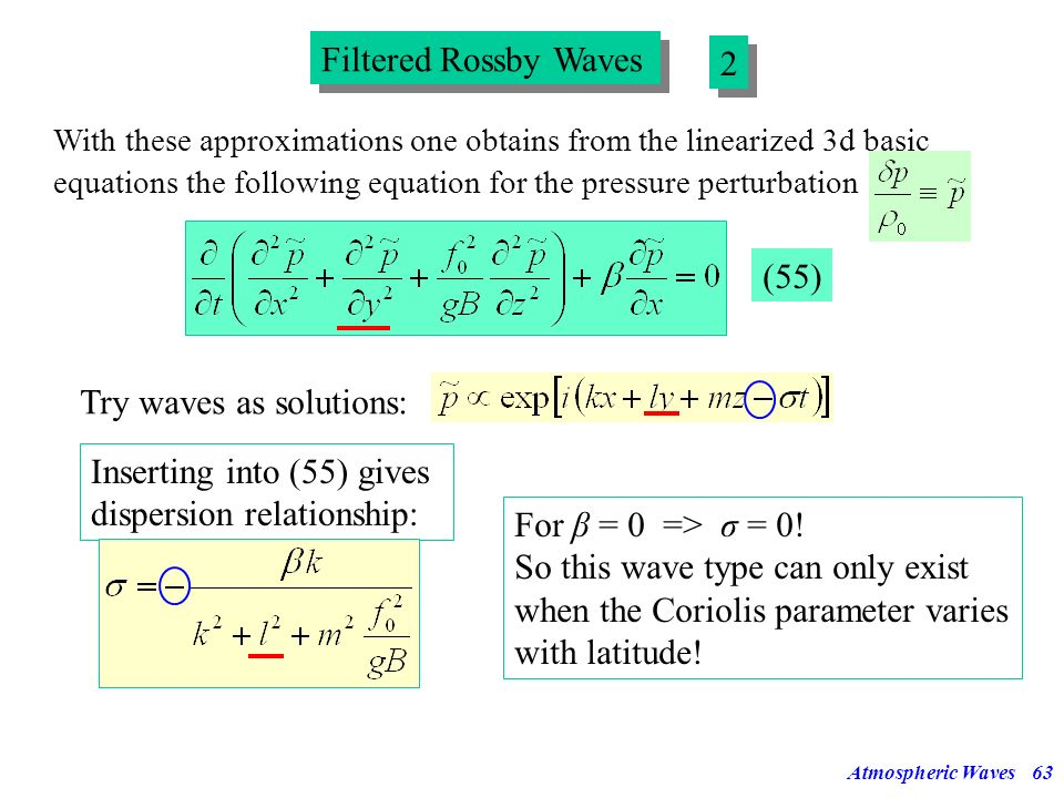 Try waves as solutions: