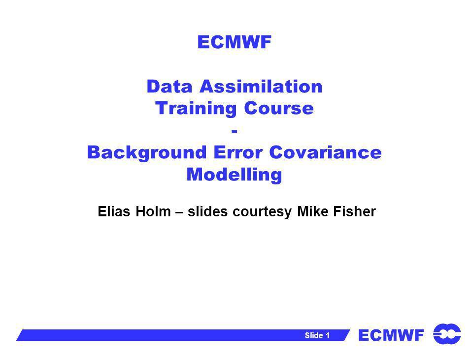 Elias Holm – slides courtesy Mike Fisher