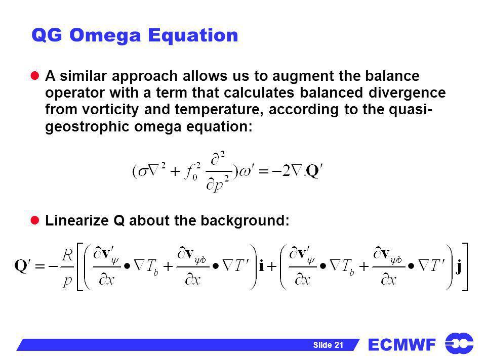QG Omega Equation
