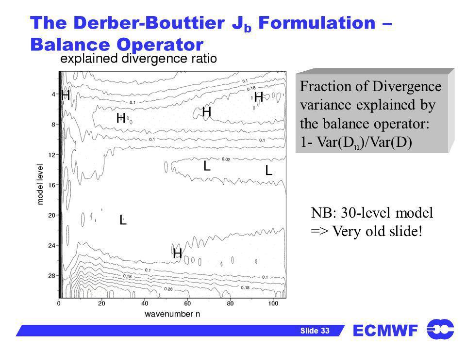 The Derber-Bouttier Jb Formulation – Balance Operator