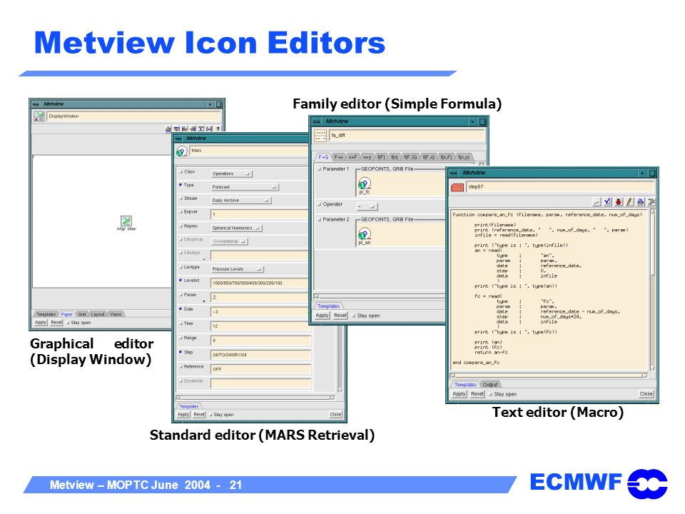 Metview Icon Editors Family editor (Simple Formula)