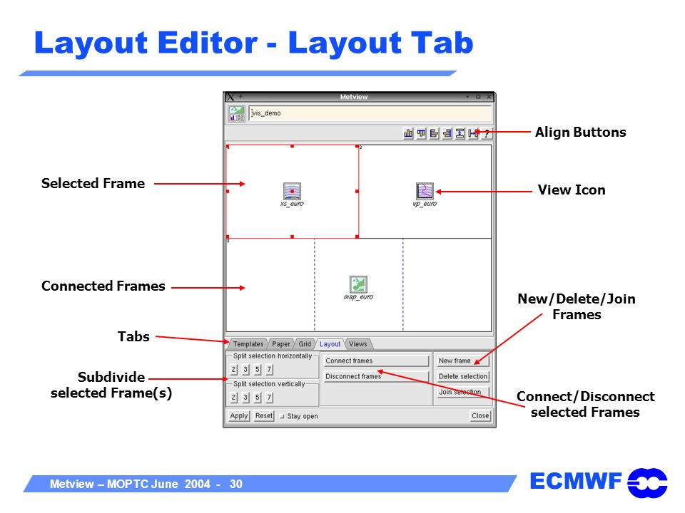 Layout Editor - Layout Tab