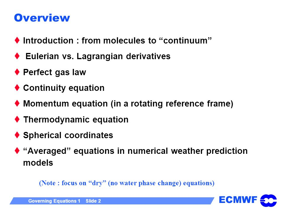 Overview Introduction : from molecules to continuum