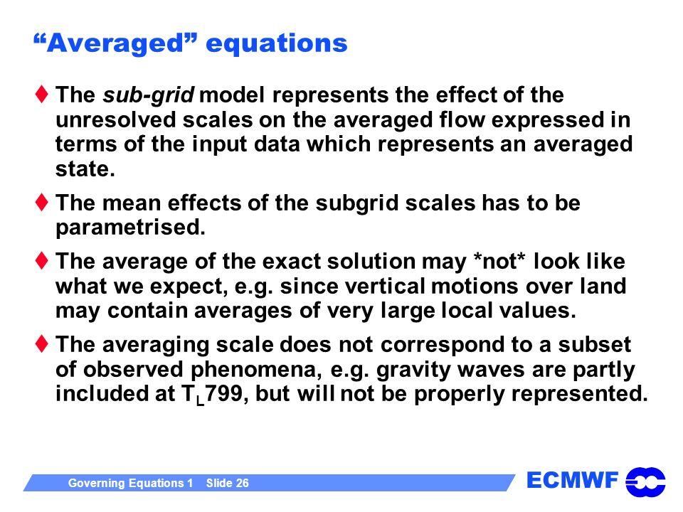 Averaged equations