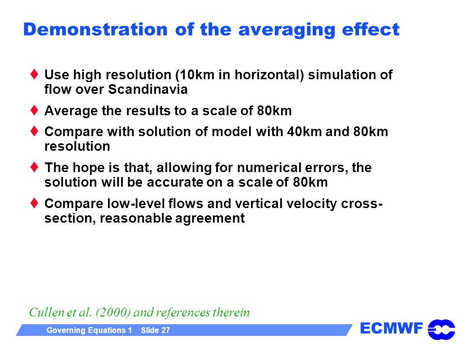 Demonstration of the averaging effect