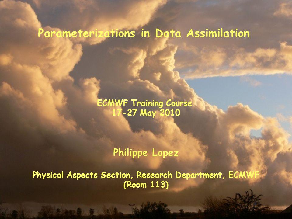 Parameterizations in Data Assimilation
