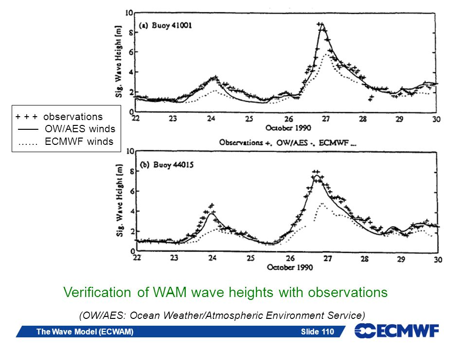 Verification of WAM wave heights with observations