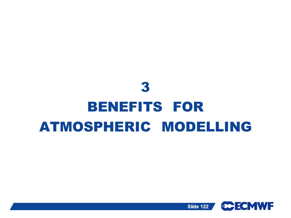 3 BENEFITS FOR ATMOSPHERIC MODELLING
