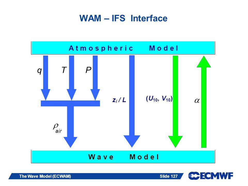 WAM – IFS Interface q T P   A t m o s p h e r i c M o d e l