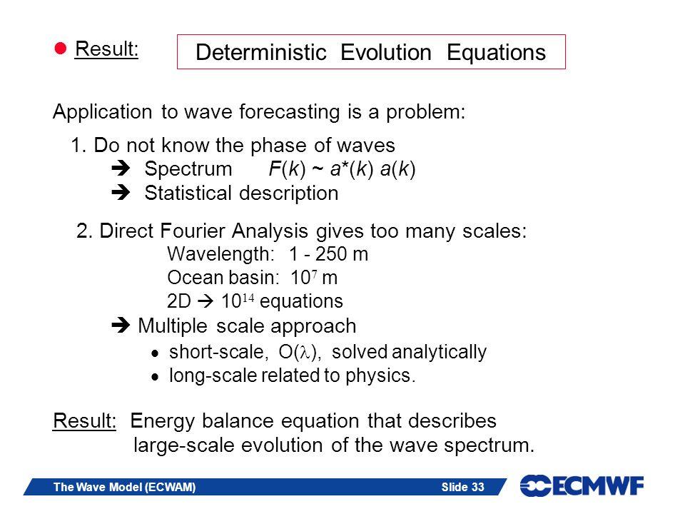 Deterministic Evolution Equations
