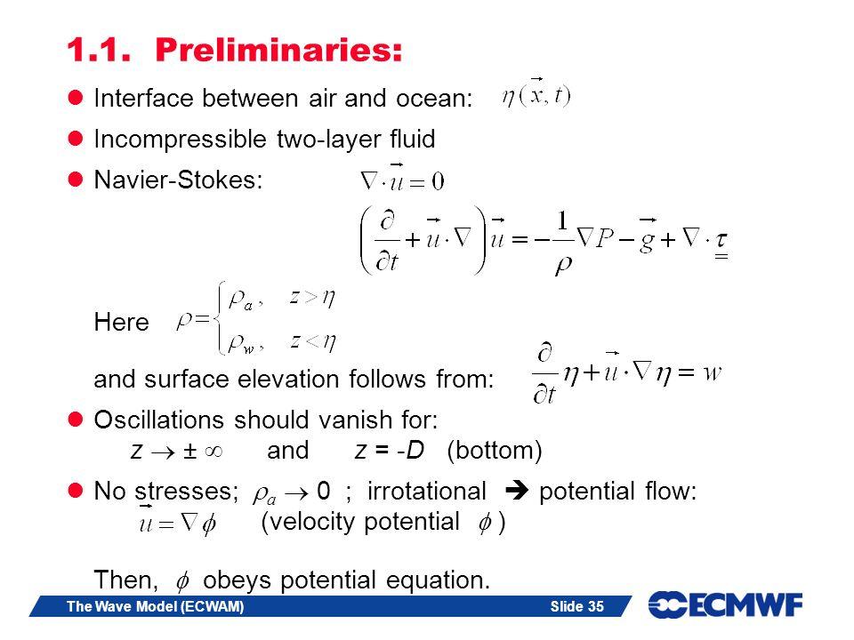 1.1. Preliminaries: Interface between air and ocean: