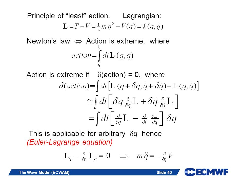 Principle of least action