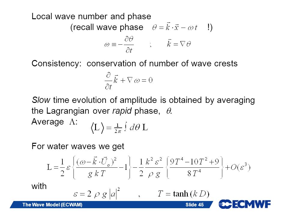 Local wave number and phase (recall wave phase !)