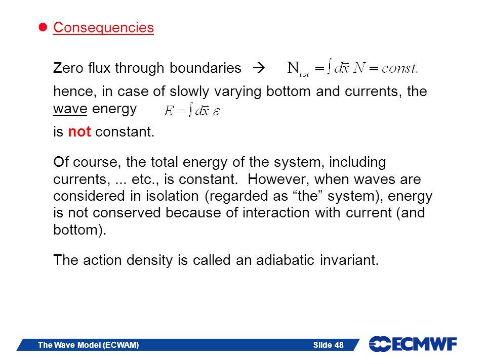 Zero flux through boundaries 