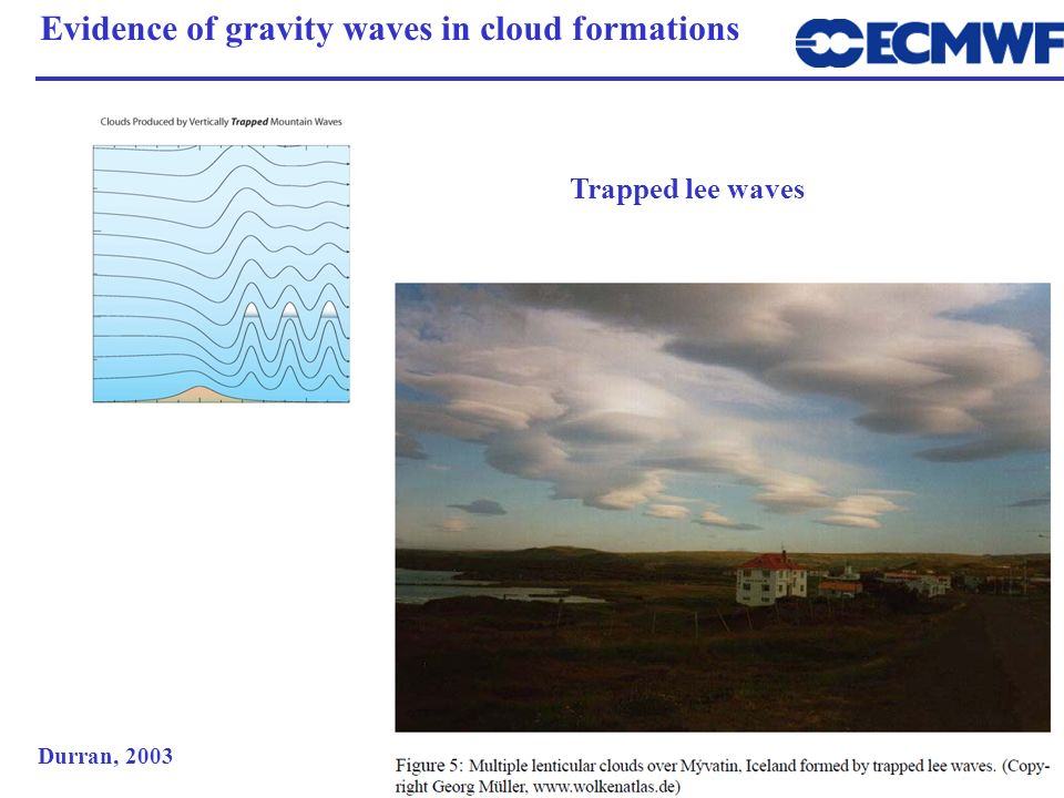 Evidence of gravity waves in cloud formations