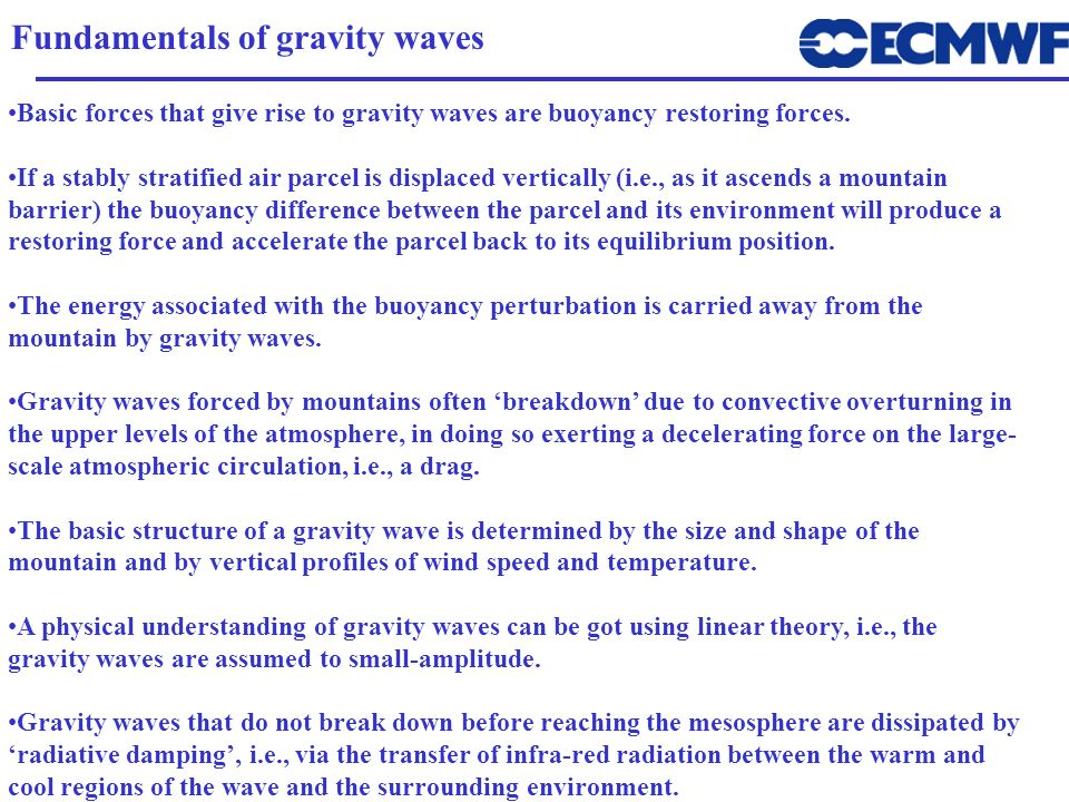 Fundamentals of gravity waves
