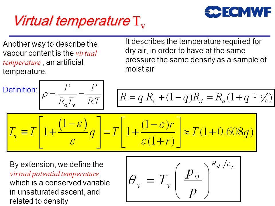 Virtual temperature Tv