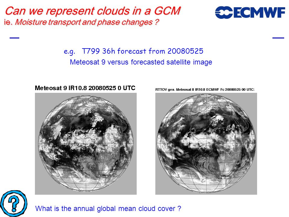 Can we represent clouds in a GCM ie