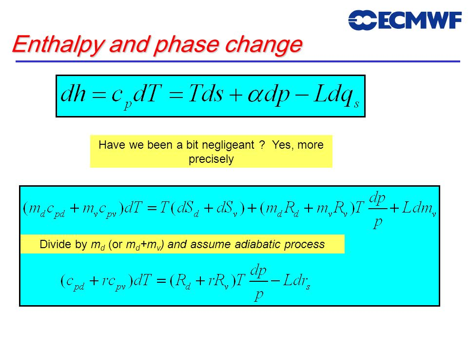 Enthalpy and phase change