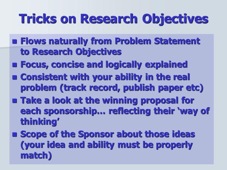 how to write statement of the problem in research proposal