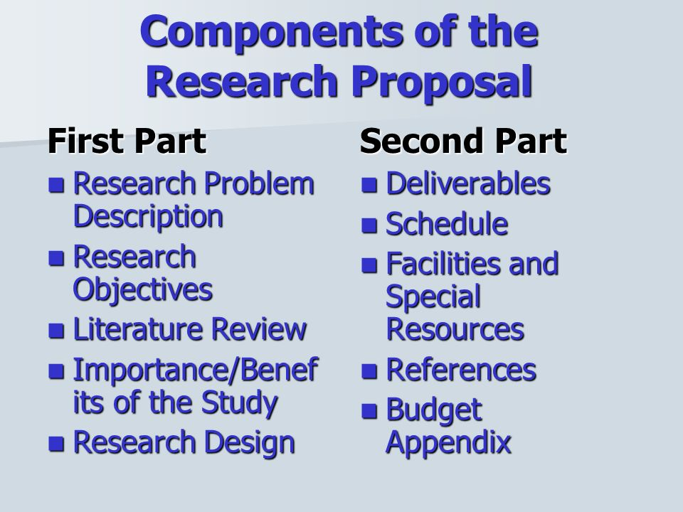 importance of research proposal pdf