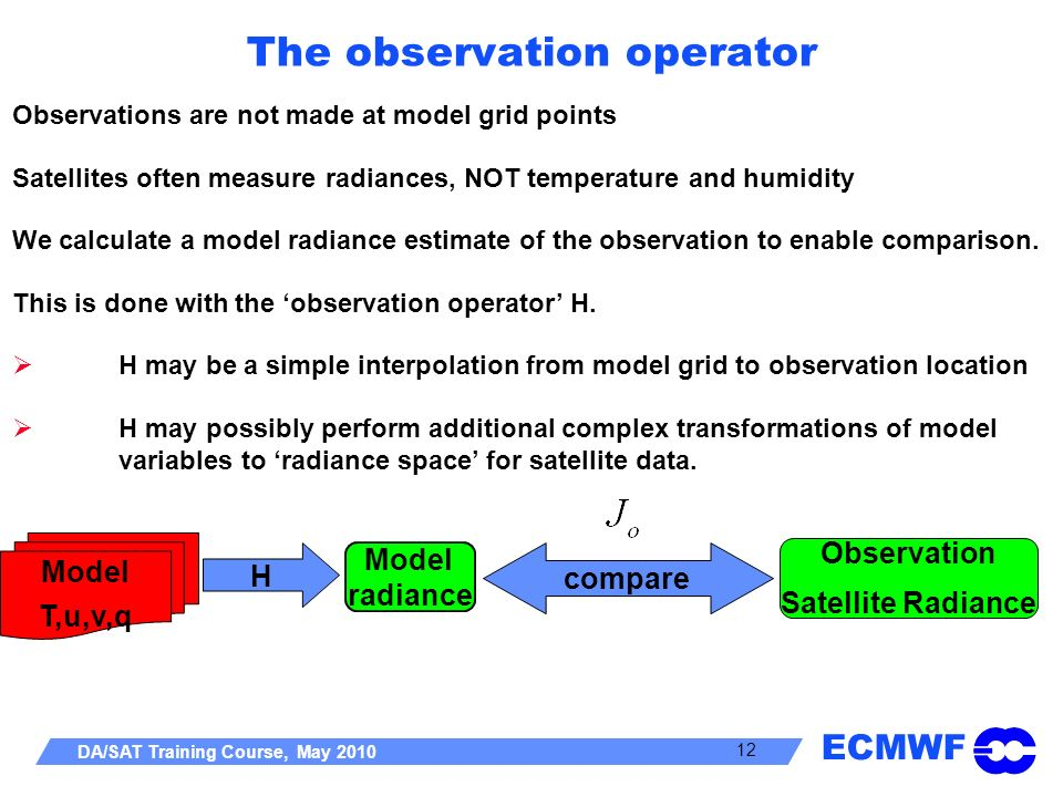 The observation operator