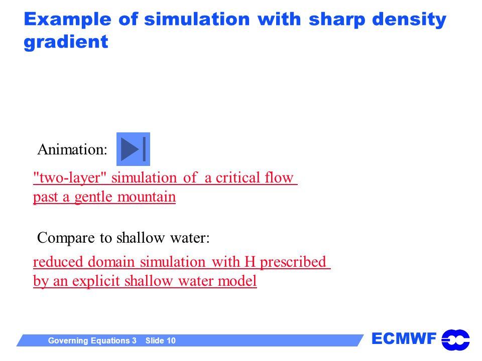 Example of simulation with sharp density gradient