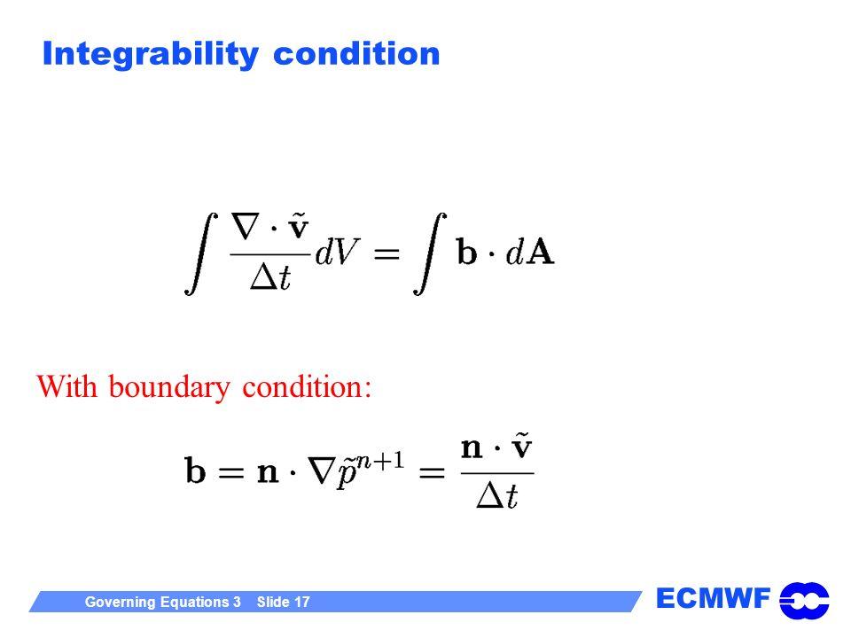 Integrability condition
