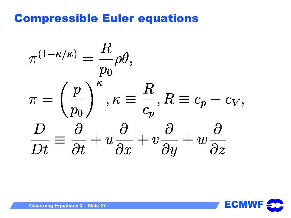 Compressible Euler equations