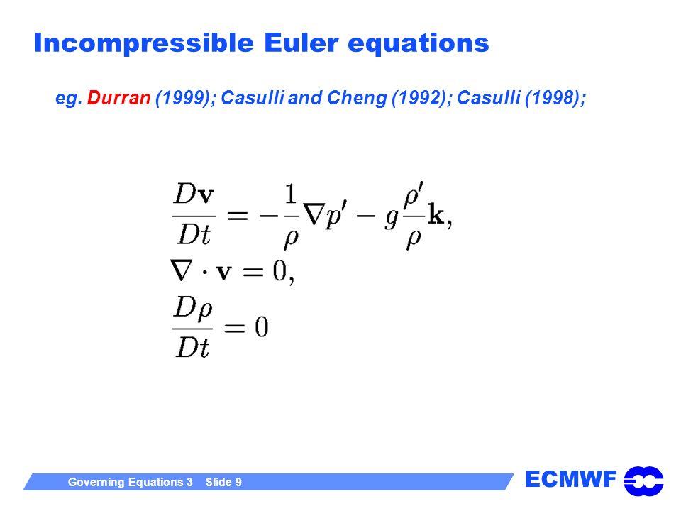 Incompressible Euler equations