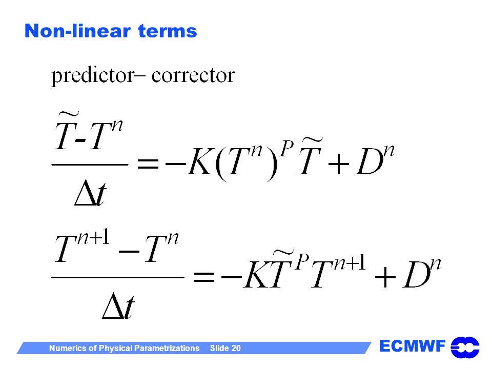 Non-linear terms