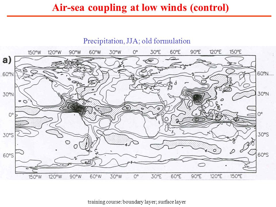 Air-sea coupling at low winds (control)