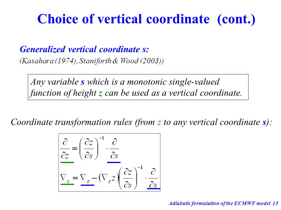 Choice of vertical coordinate (cont.)