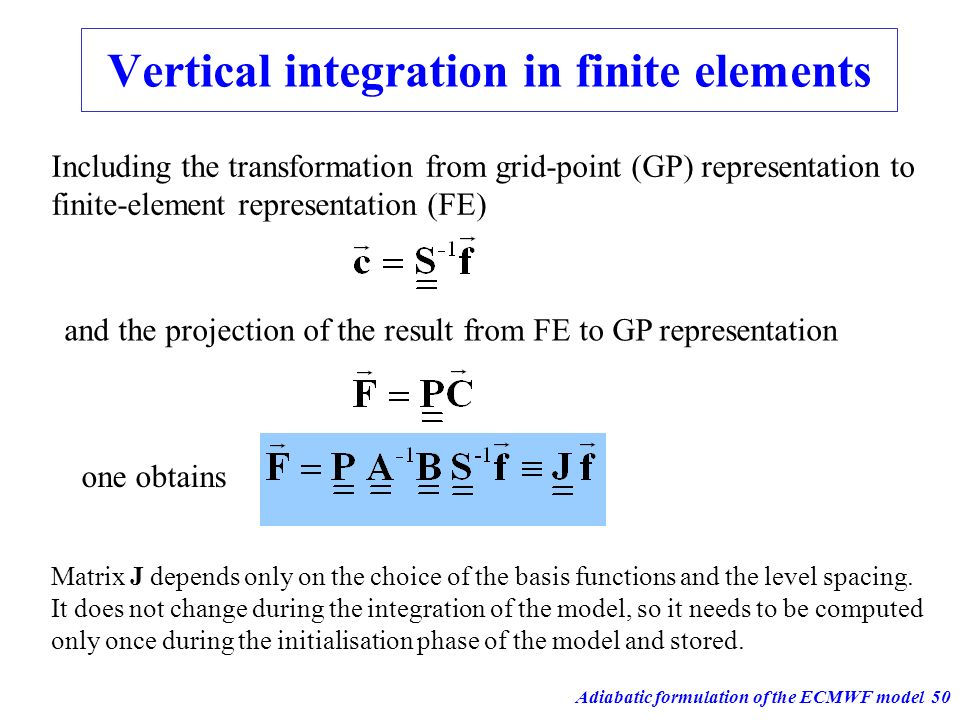 Vertical integration in finite elements
