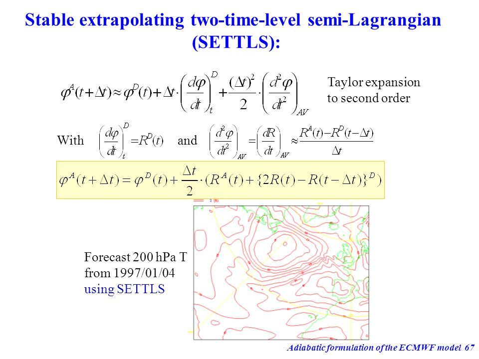 Stable extrapolating two-time-level semi-Lagrangian