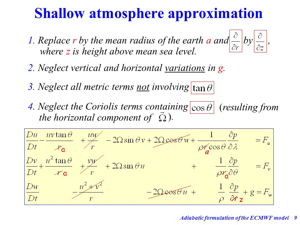 Shallow atmosphere approximation