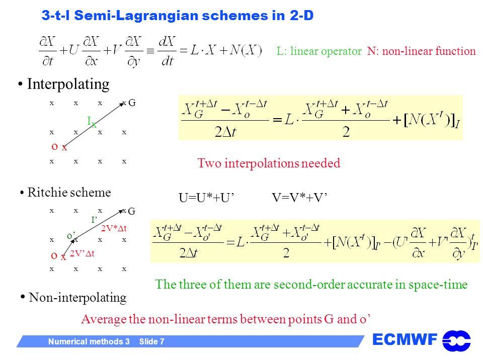 3-t-l Semi-Lagrangian schemes in 2-D