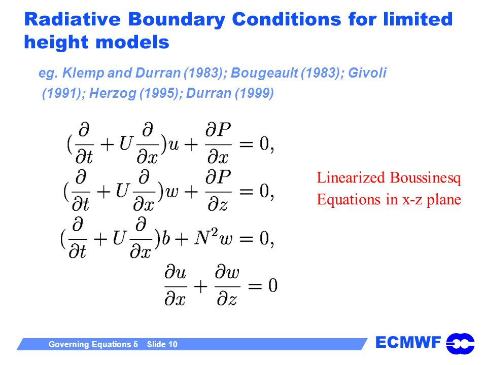 Radiative Boundary Conditions for limited height models