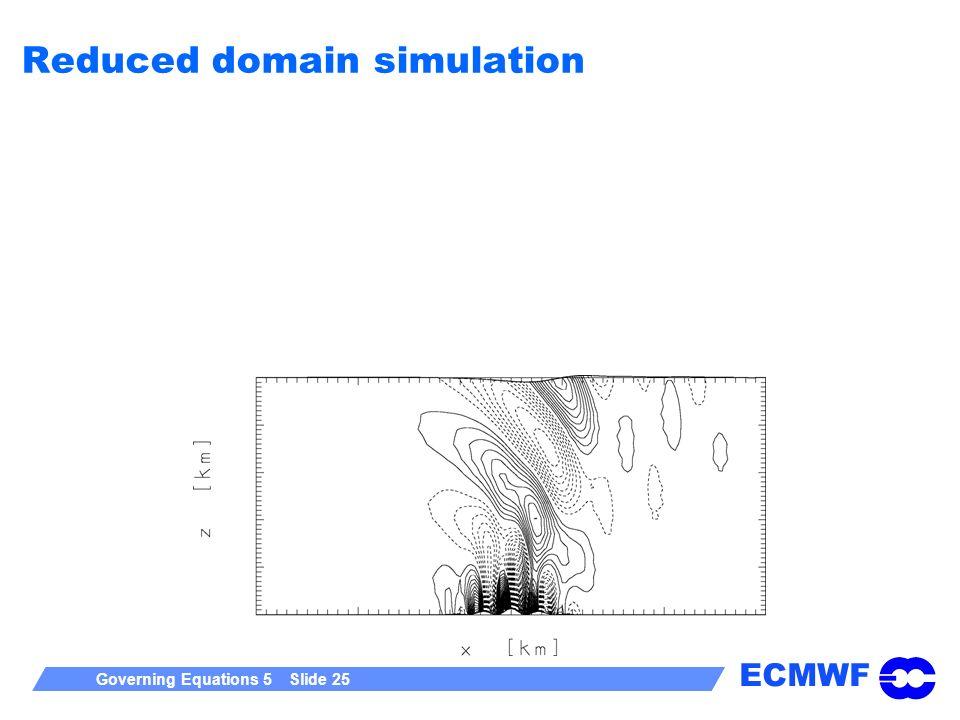 Reduced domain simulation